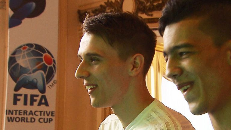 David Bytheway (left) is a professional gamer for German team Wolfsburg