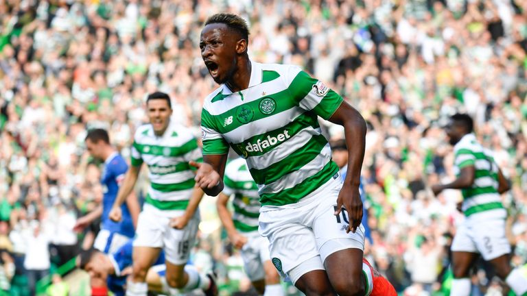 Moussa Dembele scored a hat-trick in Celtic's 5-1 win over Rangers earlier this season