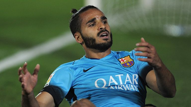 Douglas is on loan at Sporting from Barcelona