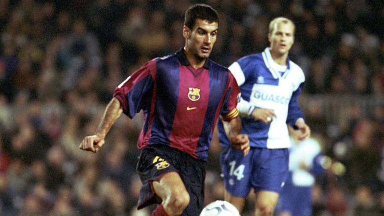 Guardiola helped Barcelona to their first European Cup in 1992 during a trophy-laden spell