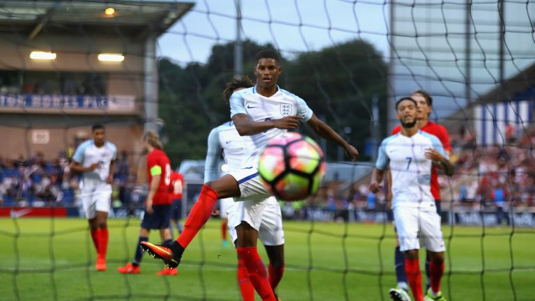 Marcus Rashford bagged a hat-trick for England U21s against Norway earlier this year
