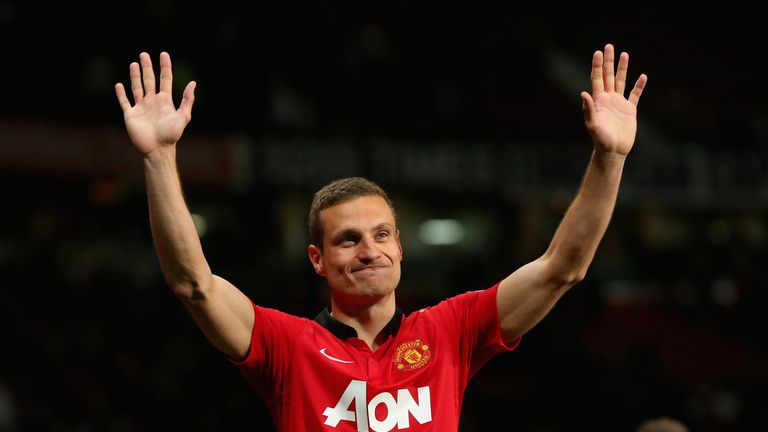 Nemanja Vidic is part of Jamie Carragher's Man Utd defence