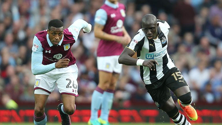 Aston Villa and Newcastle clash at St James' Park on Monday