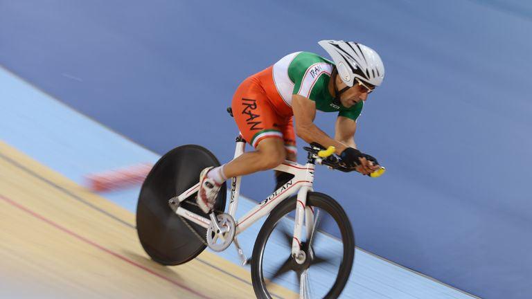 Iranian Paralympic cyclist dies after suffering heart attack in road race crash