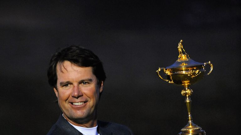 Paul Azinger is the last US captain to lift the Ryder Cup, eight long years ago