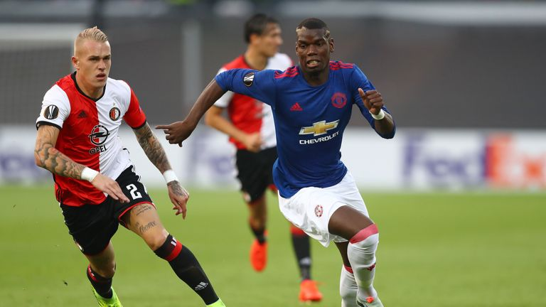 Paul Pogba (right) played the full 90 minutes