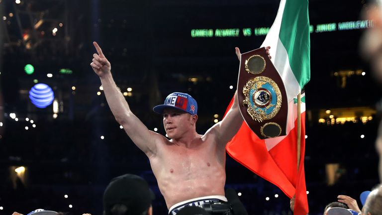 'Canelo' Alvarez stopped Liam Smith to claim WBO super-welterweight title in his last fight