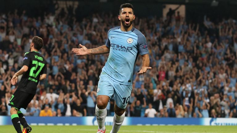 Sergio Aguero is set to return for City after a domestic suspension
