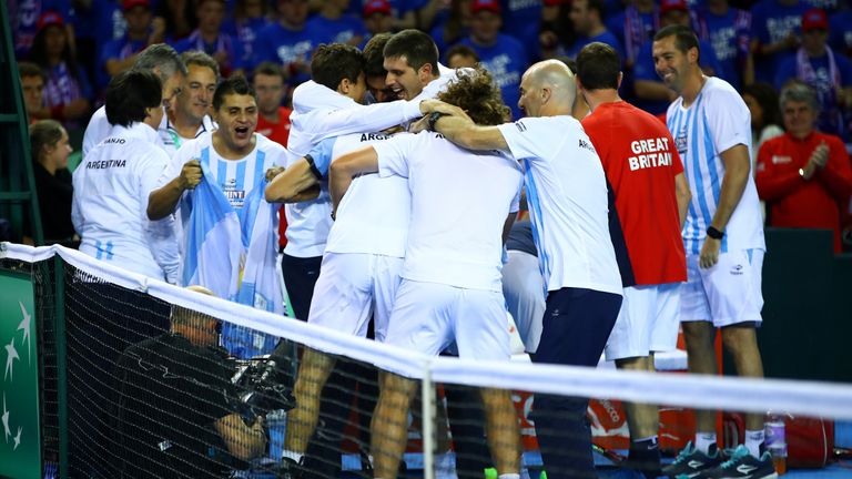 Great Britain lost to Argentina in their Davis Cup World Group semi-final