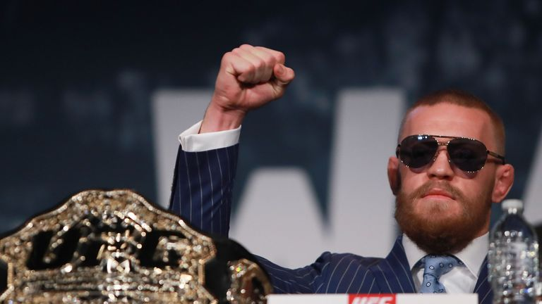 Conor McGregor is to have his five championship belts delivered to him in Las Vegas