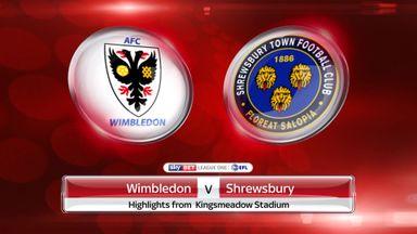 Wimbledon 1-1 Shrewsbury