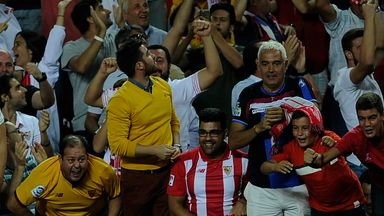 Gabriel Mercado goal celeb, Sevilla v Real Betis, La Liga
