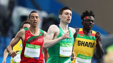 Mark English says the best way to run the 800m is called