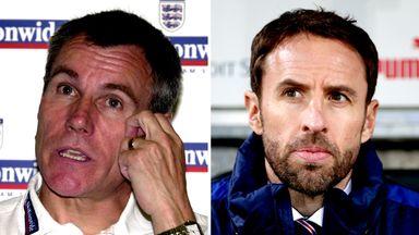 Former England caretaker Peter Taylor and current caretaker Gareth Southgate