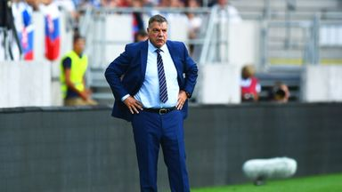 Sam Allardyce looks on during the 2018 FIFA World Cup qualifyer between Slovakia and England
