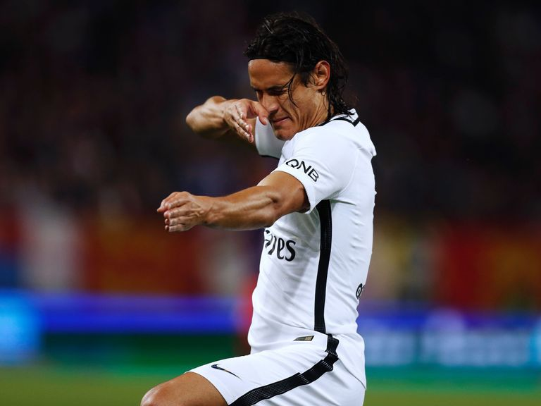Cavani strikes back with four goals as PSG sink Caen