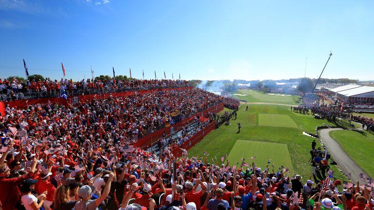 Huge crowds have filled Hazeltine throughout the week
