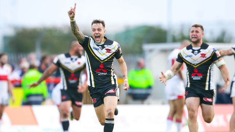 Salford's Gareth O'Brien kicked a drop goal to win last year's Million Pound Game