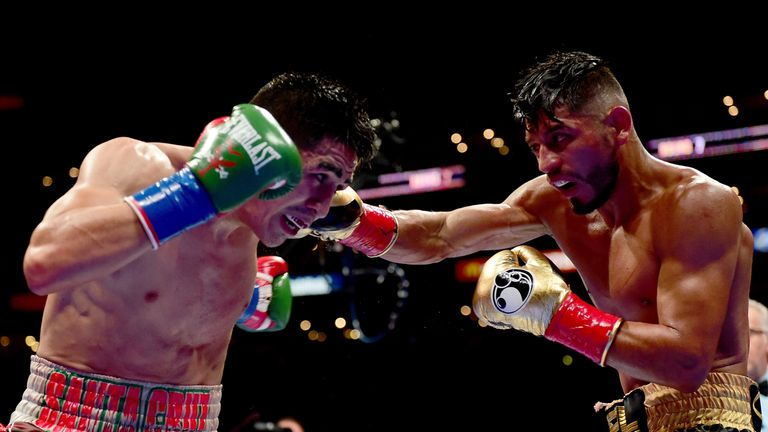 Abner Mares (right) is targeting a rematch with Santa Cruz
