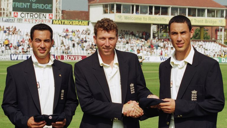 Ben Hollioake (right) was the last teenager to play a Test for England