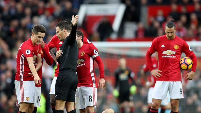 Ander Herrera is given his marching orders