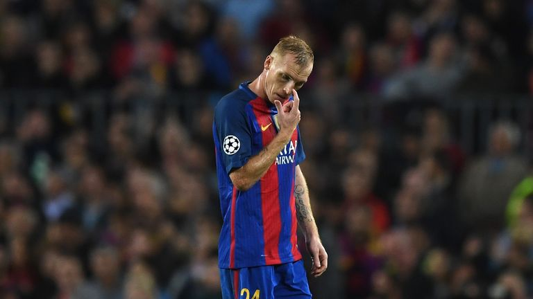 Jeremy Mathieu is the only injury doubt for Barcelona