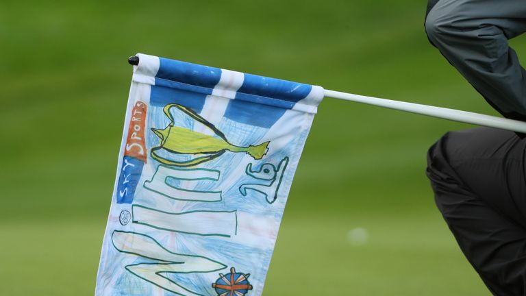 The flag at the 16th was designed in a competition for local schoolchildren