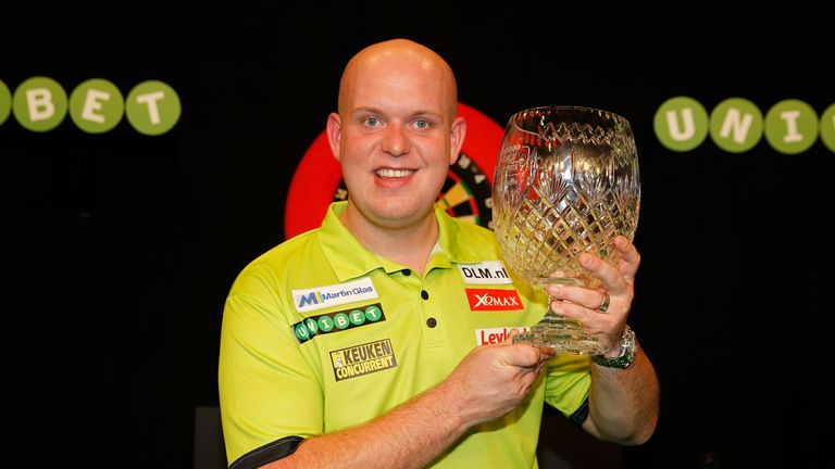 Michael van Gerwen won the World Grand Prix last year and faces John Henderson in the first round in Dublin this year