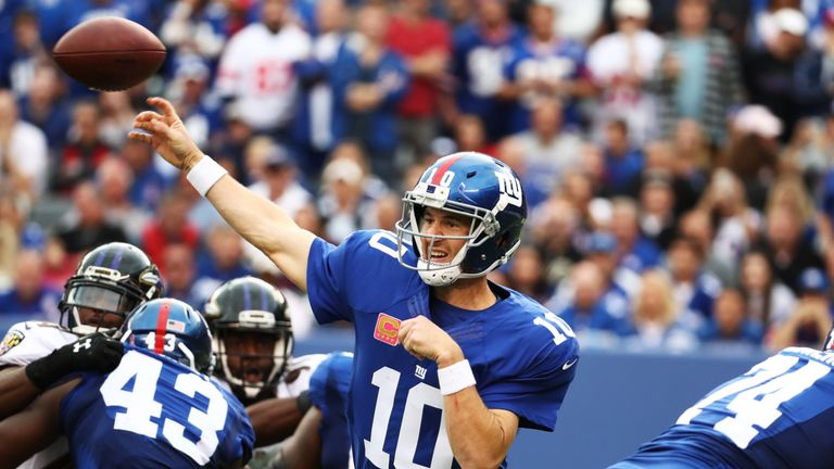 Manning's New York Giants play the Los Angeles Rams in London this weekend