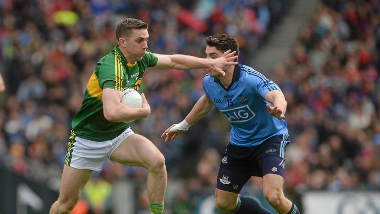 Marc Ó Sé, pictured in action against Dublin during this year's National League final, made 176 appearances for Kerry