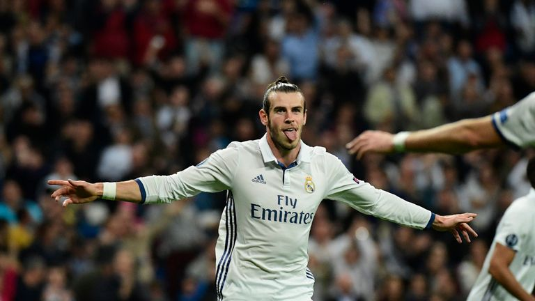 Gareth Bale opened the scoring for Real Madrid at the Bernabeu