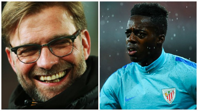 Jurgen Klopp is reportedly eyeing up a move for Inaki Williams