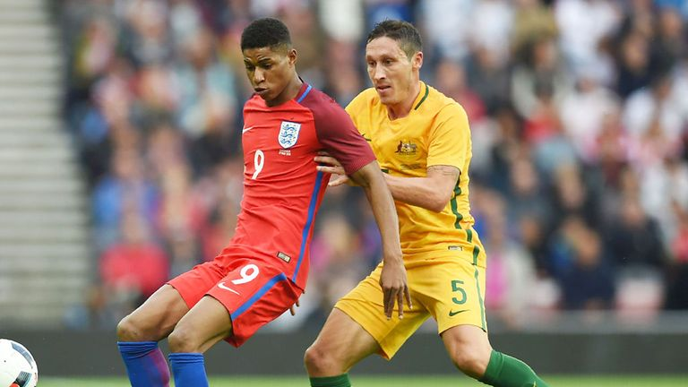 Rashford made his England debut against Australia in May