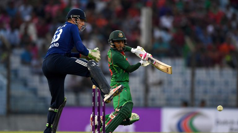 Mushfiqur Rahim of Bangladesh bats during the 3rd ODI