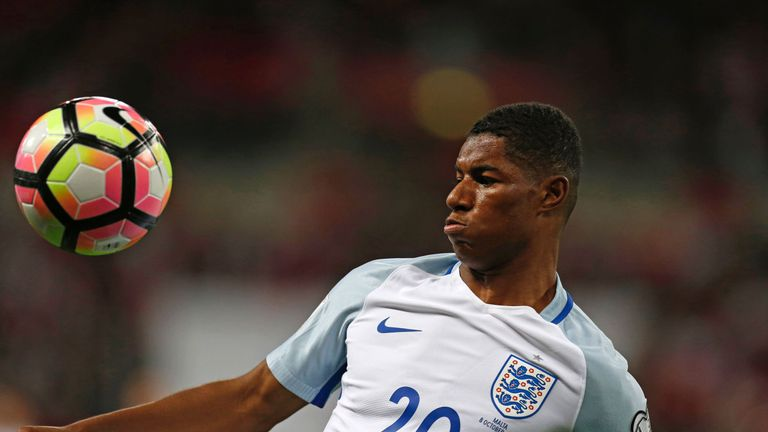 Marcus Rashford is a rising star in the England set-up
