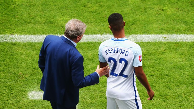 Rashford was used for a total of 21 minutes over two games at Euro 2016