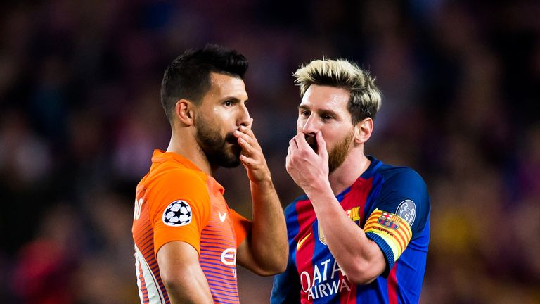 Sergio Aguero would be happy to welcome Lionel Messi to Manchester City