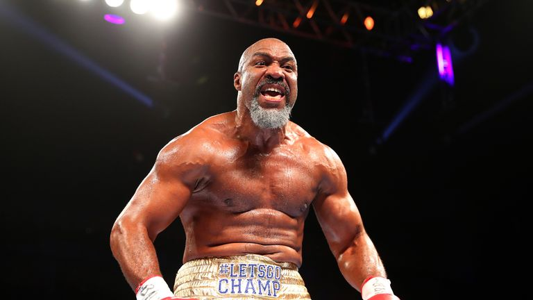 "Shannon Briggs, 45, says he is ""looking forward to making history"""