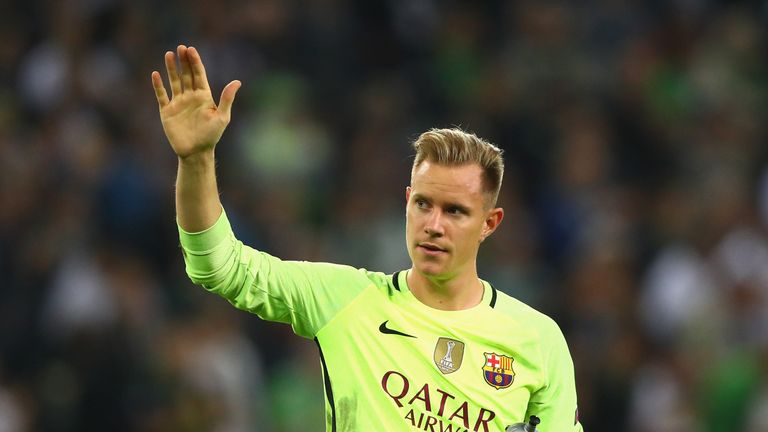 Marc Andre Ter Stegen is not as risky with the ball these days