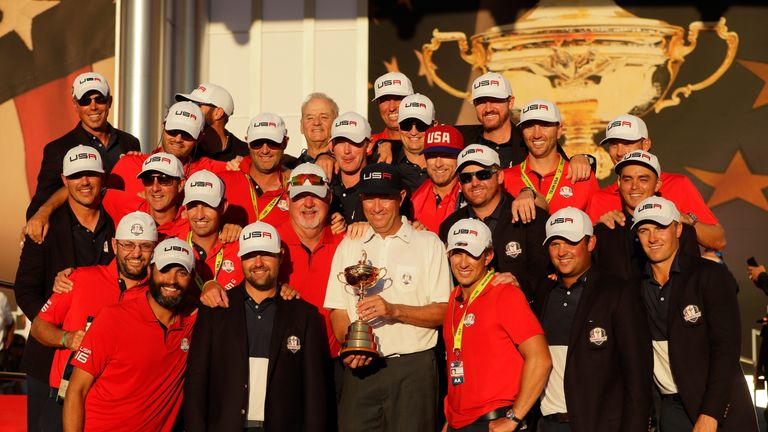 The USA ended a run of three straight defeats with victory at Hazeltine