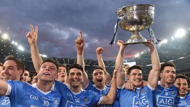 Dublin celebrate retaining the Sam Maguire in 2016