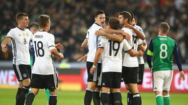Germany celebrate taking the lead in Hanover