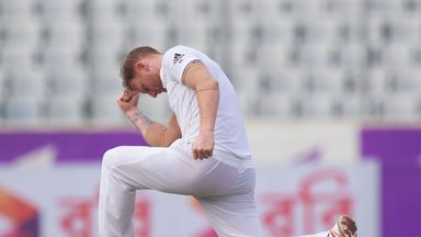 Ben Stokes celebrates the wicket of Mahmudullah