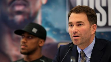 Eddie Hearn continues to consider the options for  Anthony Joshua