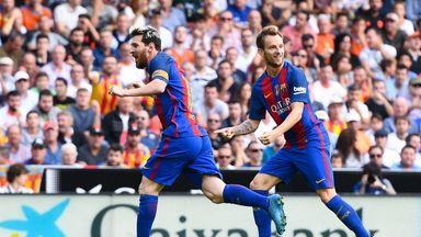 Lionel Messi celebrates his opener