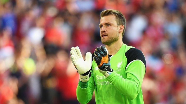 Simon Mignolet during the International Champions Cup match between Liverpool and Barcelona