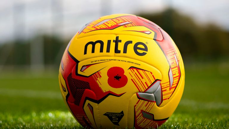EFL sponsor Sky Bet will auction shirts and footballs this November for the Poppy Appeal