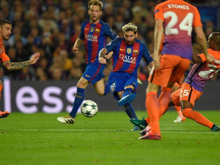 Messi treble as Guardiola suffers on Barca return