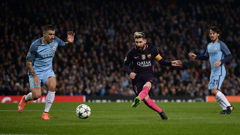 Lionel Messi opens the scoring for Barcelona