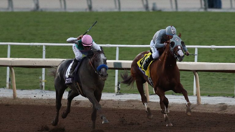 Breeders' Cup: Classic Empire rules Juvenile by a neck